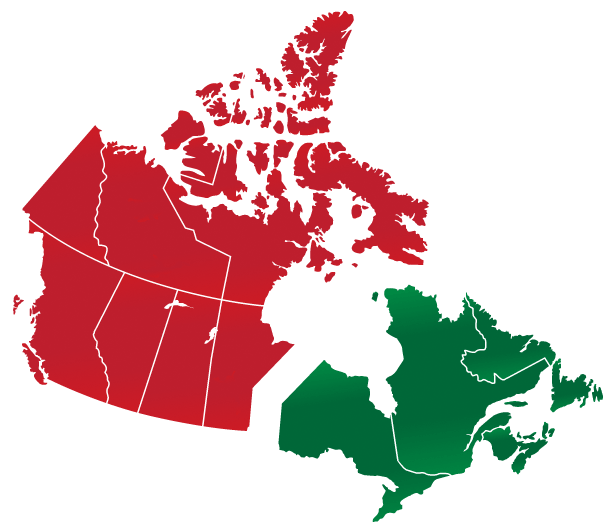 Dollar Tree Canada Leasing Region Map
