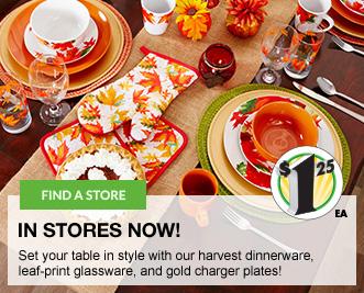Fall Dinnerware and Glassware